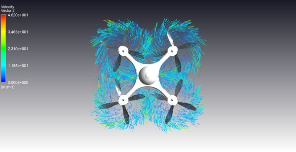 Drone_CFD_Simulation_ANSYS_CFX_Velocity_Vector-FetchCFD_Bottom_View.jpg