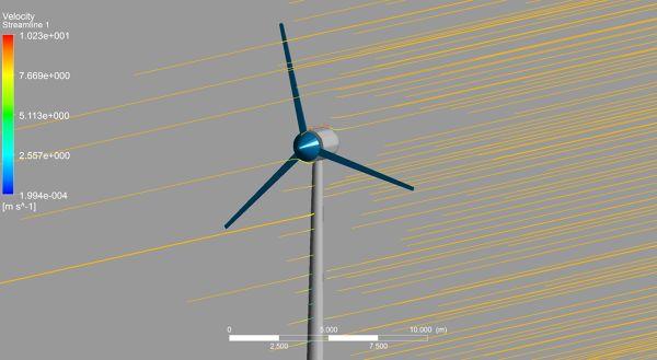 Wind Turbine ANSYS CFX Velocity Streamlines zoom.jpg