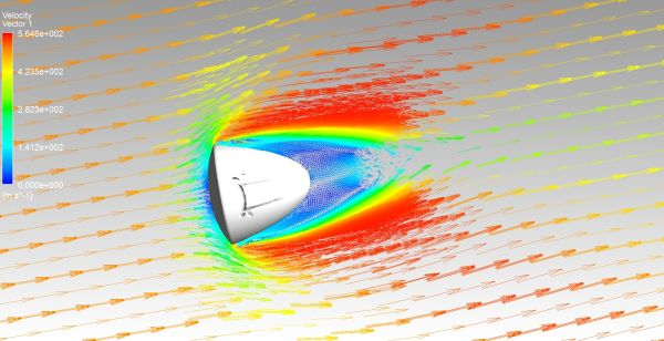 SpaceX-Dragon-CFD-Simulation-ANSYS-CFX-Velocity-Vectors-FetchCFD.jpg
