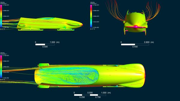 Bobsleigh CFD Simulation Surface Velocity Streamlines Pressure Contour Different Views.jpg