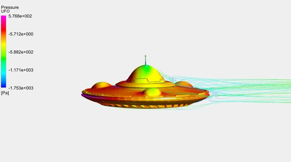 UFO-Aerodynamics-Analysis-Simulation-Surface-Pressure-Contour-And-Velocity-Streamlines-FetchCFD-Image-Side-View.jpg