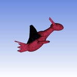 Pokeman Latios Mesh for CFD Analysis
