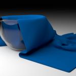 Cloth draping simulation