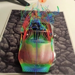 Augmented Reality Rendering on the real model of a transient (URANS) CFD Simulation of a BMW Z3