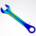 Structural Analysis of a Wrench with ANSYS Discovery Live