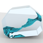 Sloshing Tank Simulation Rendering with Blender