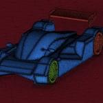 Racing Car Mesh For Simulation