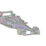 Formula E Race Car CAD Model for CFD
