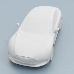 Tesla Model S Car CAD Model for CFD
