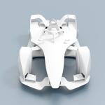 Formula E 2018 Race Car CAD Model for CFD