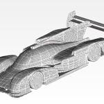 Simulation Mesh Porsche 919 Evo