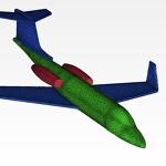 Simulation Mesh Learjet