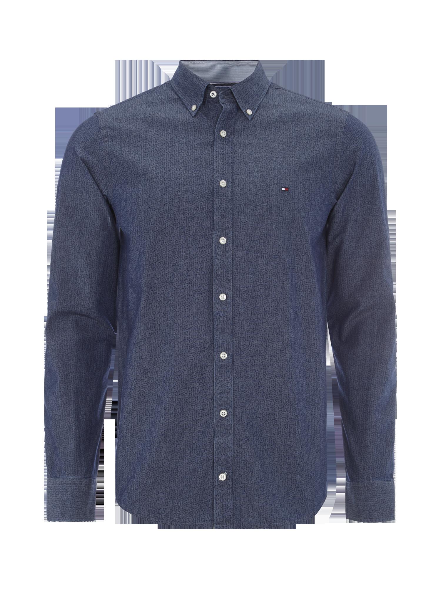 d9d97360efa6 TOMMY-HILFIGER Slim Fit Hemd mit Button Down Kragen - gemustert in Blau    Türkis online kaufen (9171077) ▷ P C Online Shop