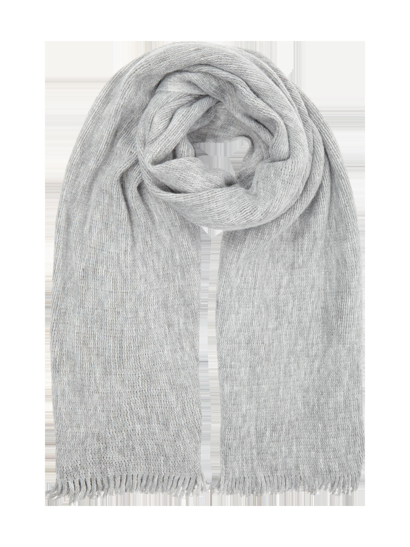 REVIEW Schal aus weichem Material in Grau / Schwarz online kaufen ...