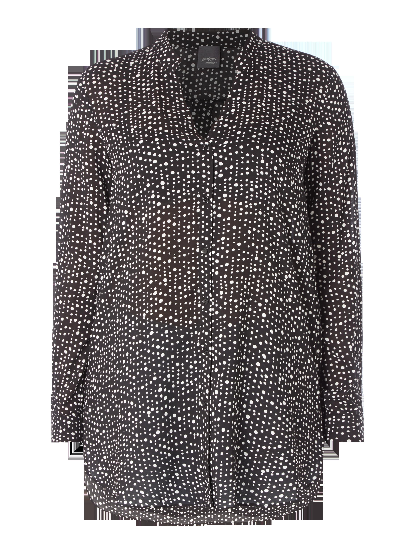 PERSONA-BY-MARINA-RINALDI PLUS SIZE - Bluse mit Punktemuster in Grau    Schwarz online kaufen (9509602) ▷ P C Online Shop b6a513d1df