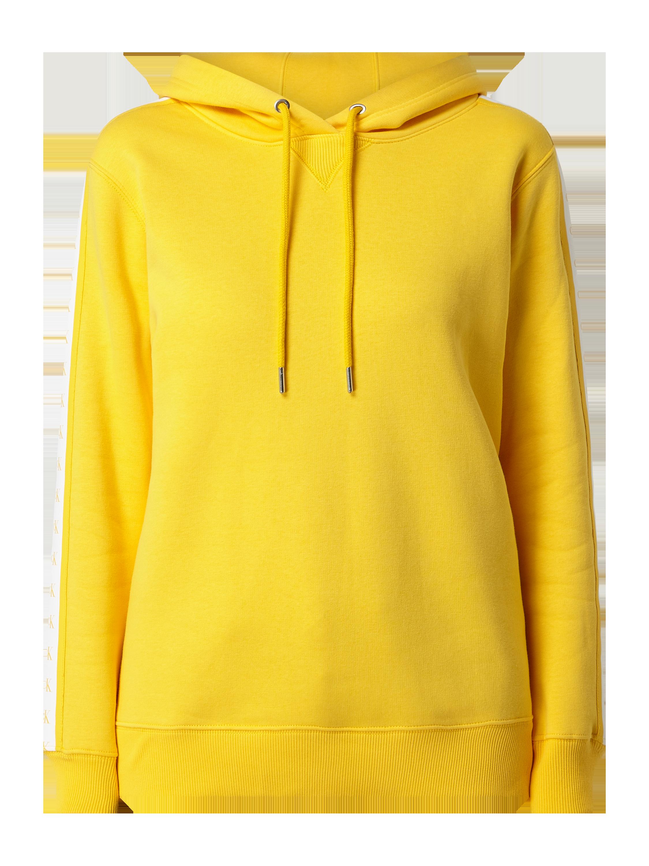 Calvin Klein Jeans – Hoodie mit Logo Streifen – Gelb