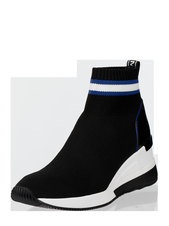 MICHAEL Michael Kors – Sock Sneaker mit Lederbesatz – Schwarz