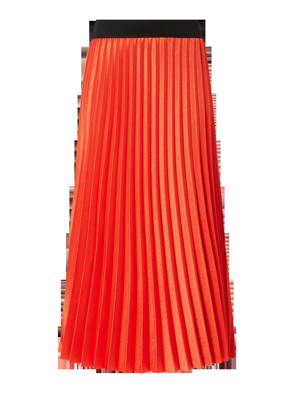 bde3bed865b52d JAKES-COLLECTION Rock mit Plisseefalten in Orange online kaufen (9914865) ▷  P C Online Shop