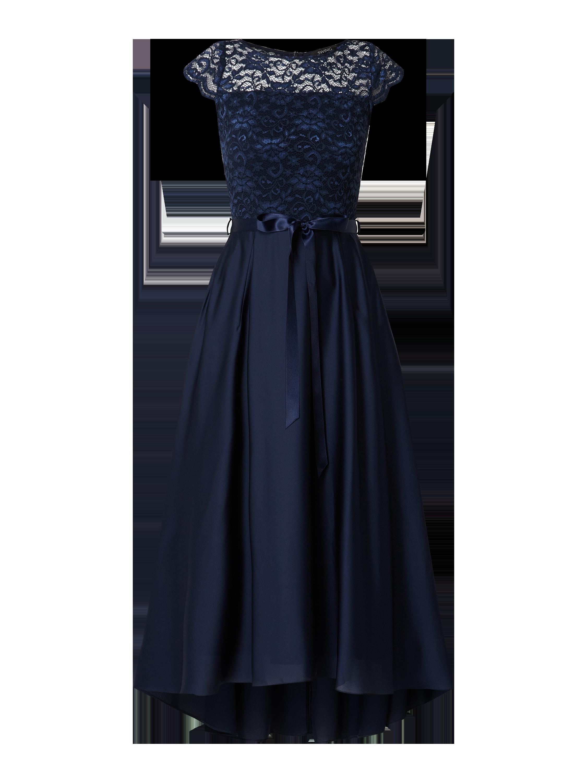 Swing – Abendkleid aus Spitze und Satin – Marineblau