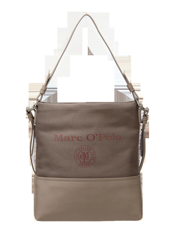 63702a9d70c17 MARC-O-POLO Torebka tote z nadrukiem z logo w kolorze Szary   czarny zakupy  online (9798928) w P C ▷ wysyłka i zwrot 0zł