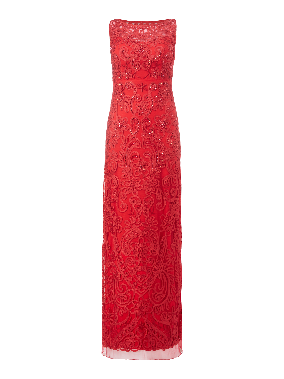 NIENTE Abendkleid mit Zierborten und Pailletten in Rot online kaufen ...