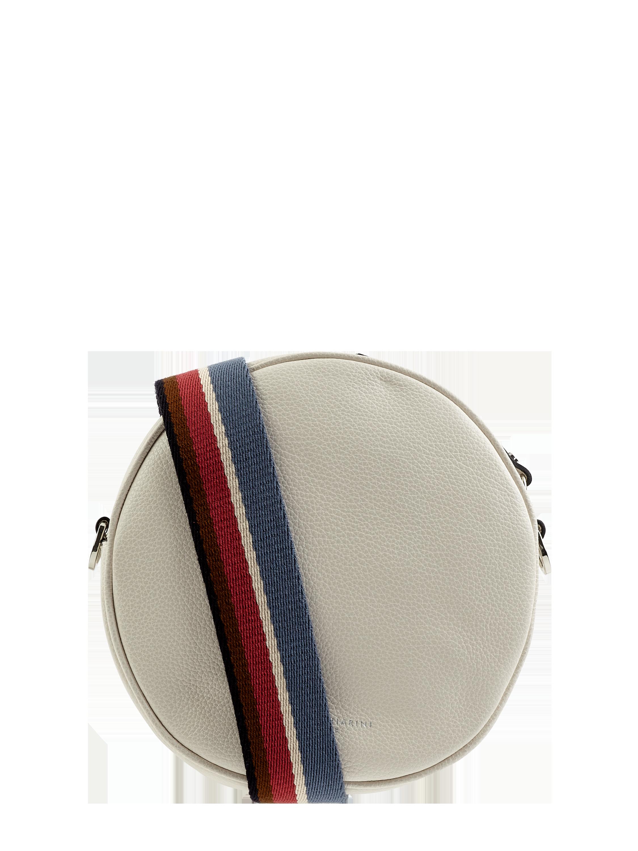 GIANNI CHIARINI – Torba na długim pasku ze skóry model 'Tamburello' – Brudny biały