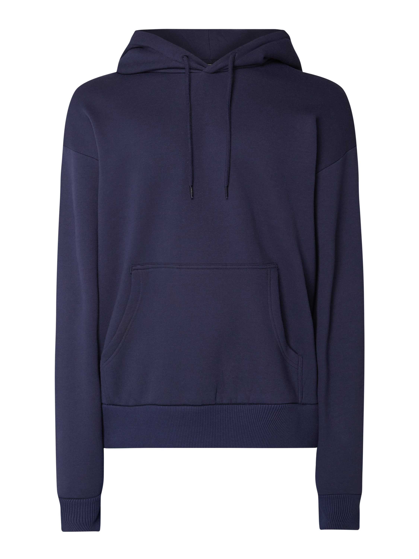 REVIEW – Hoodie mit überschnittenen Schultern – Dunkelblau