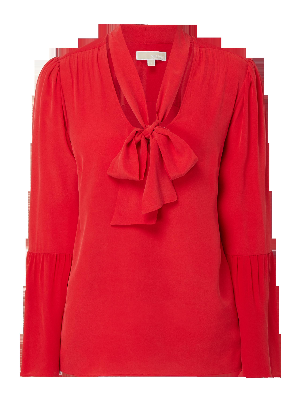 1532a7432dd9c MICHAEL-MICHAEL-KORS Bluzka z jedwabiu z kokardą w kolorze Czerwony zakupy  online (9915348) w P C ▷ wysyłka i zwrot 0zł