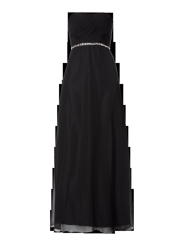 a8b4225eba36 LAONA Abendkleid aus Chiffon mit Herzausschnitt in Grau   Schwarz online  kaufen (9567921) ▷ P C Online Shop