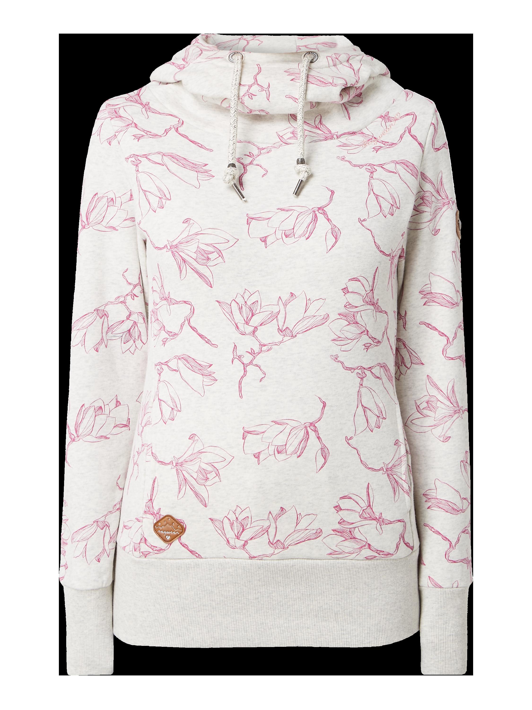RAGWEAR Hoodie mit Allover Muster in Weiß online kaufen