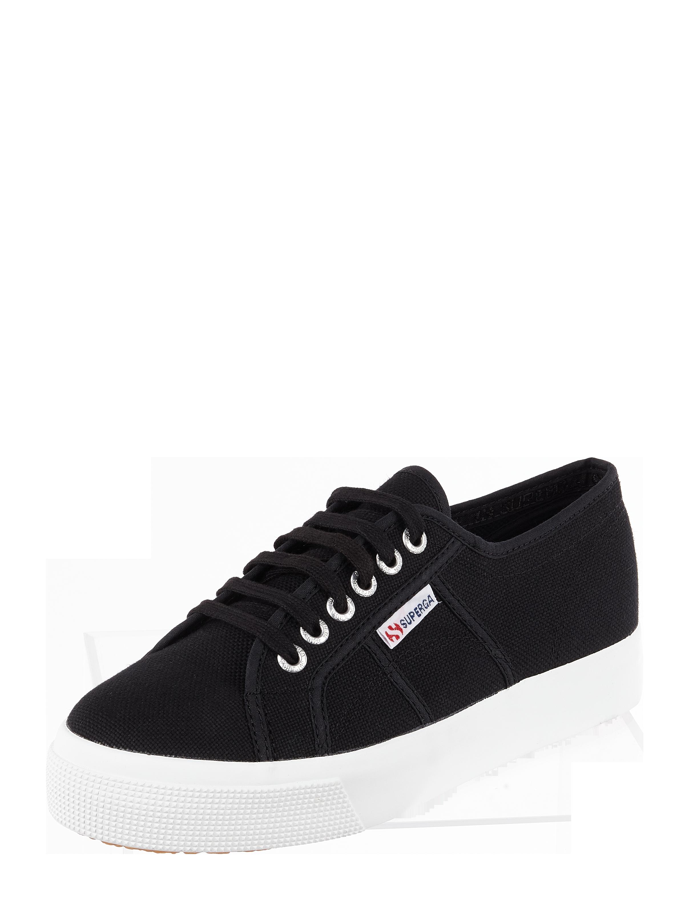 Superga – Plateau Sneaker '2739' aus Canvas – Schwarz