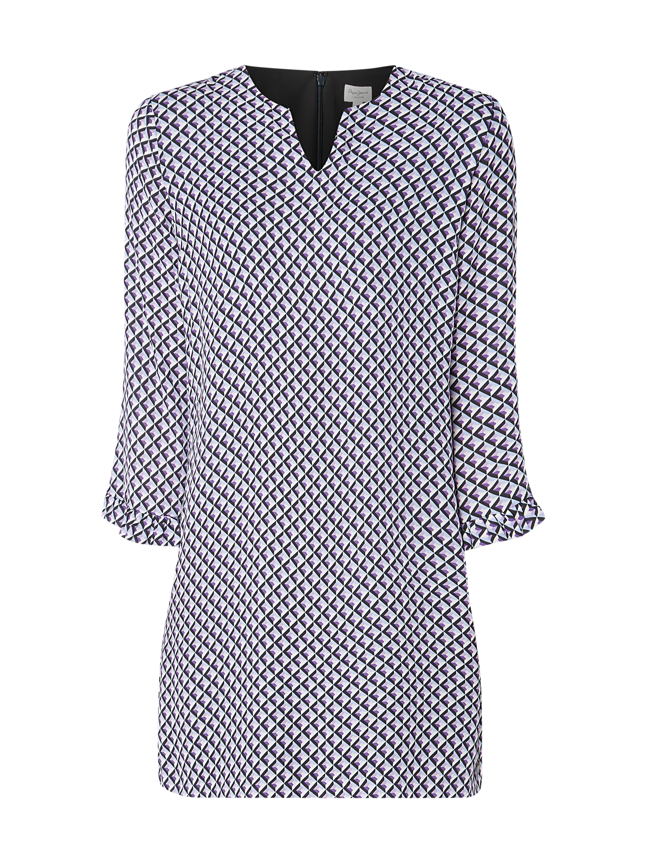 Pepe Jeans – Kleid mit grafischem Muster – Weiß