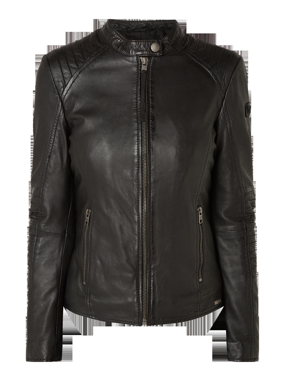 27a1b54a1e3d TIGHA Kurtka skórzana w stylu Biker w kolorze Szary   czarny zakupy online  (4794357) w P C ▷ wysyłka i zwrot 0zł