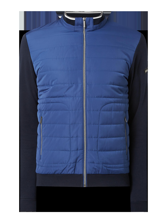 bugatti – Jacke mit wattierter Kontrastvorderseite – Marineblau