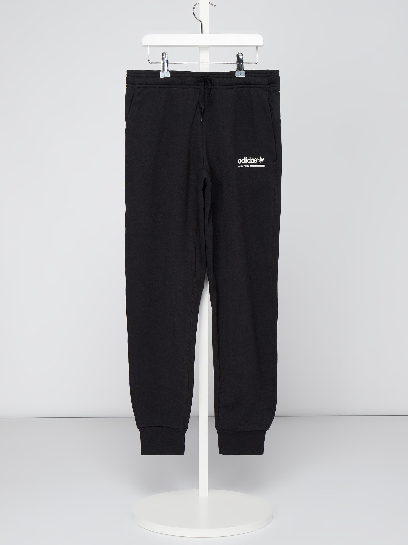 ADIDAS Sweatpants mit Logo Print in Grau Schwarz online