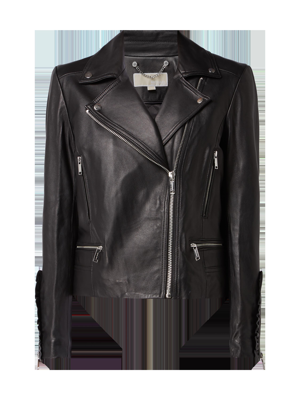 0a943d960825b MICHAEL-MICHAEL-KORS Kurtka skórzana biker w kolorze Szary / czarny zakupy  online (9728912) w P&C ▷ wysyłka i zwrot 0zł