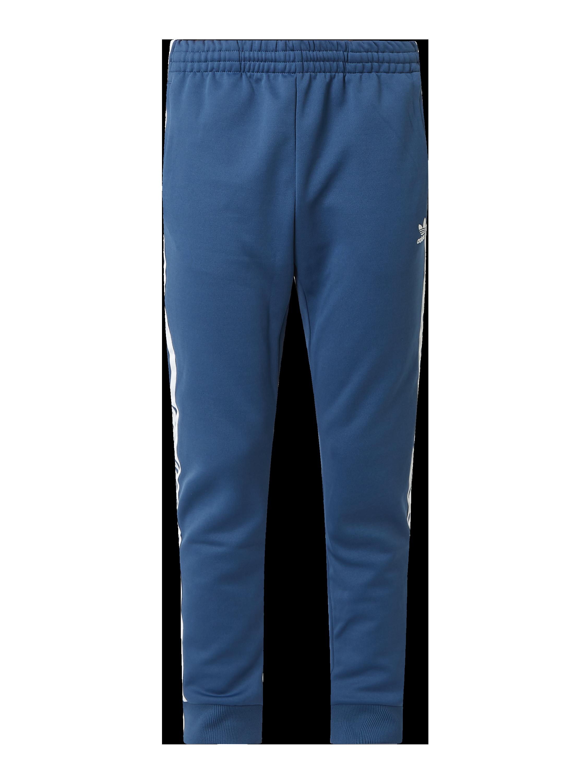 ADIDAS Originals – Spodnie dresowe z poliestru z recyklingu – Ciemnoniebieski