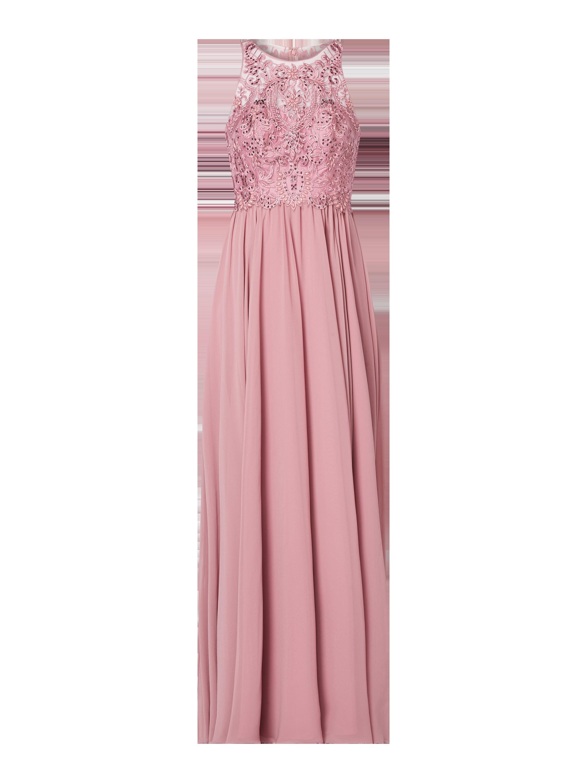 Laona – Abendkleid mit Stickereien – Altrosa
