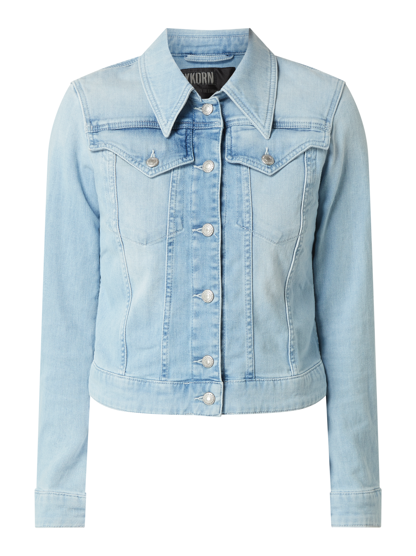 Drykorn – Jeansjacke mit geknöpften Pattentaschen Modell 'Somerton' – Jeans