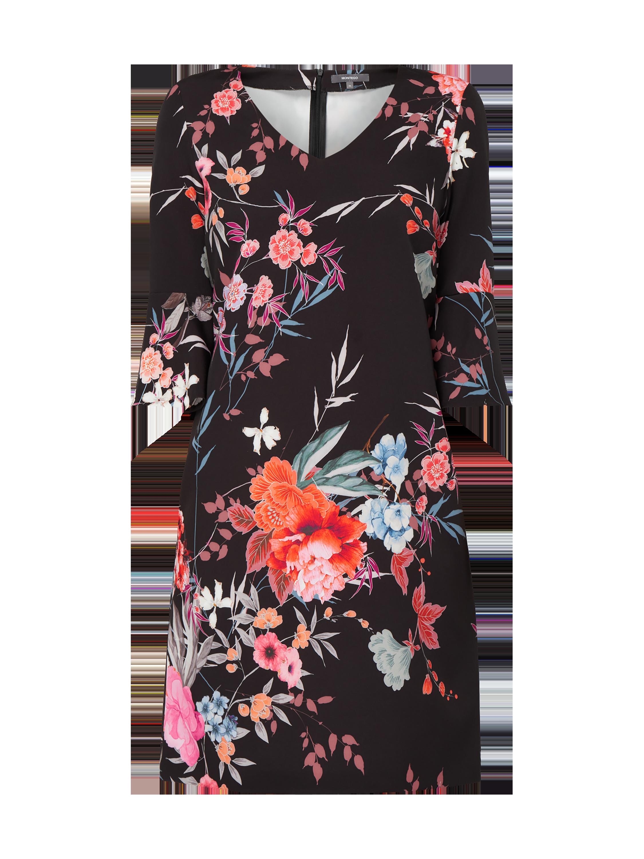 Montego Kleid mit floralem Muster Damen Mittelgrau NEU Größe 42