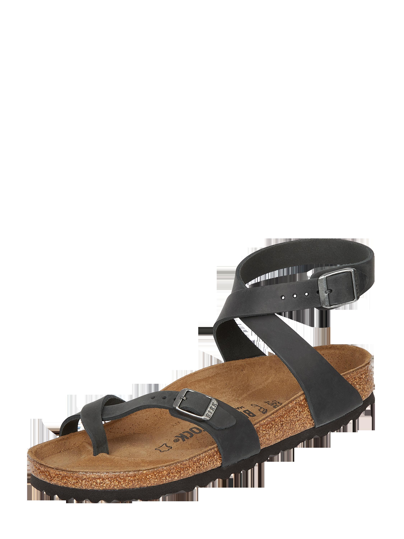 Birkenstock – Sandalen aus gewachstem Leder – Schwarz