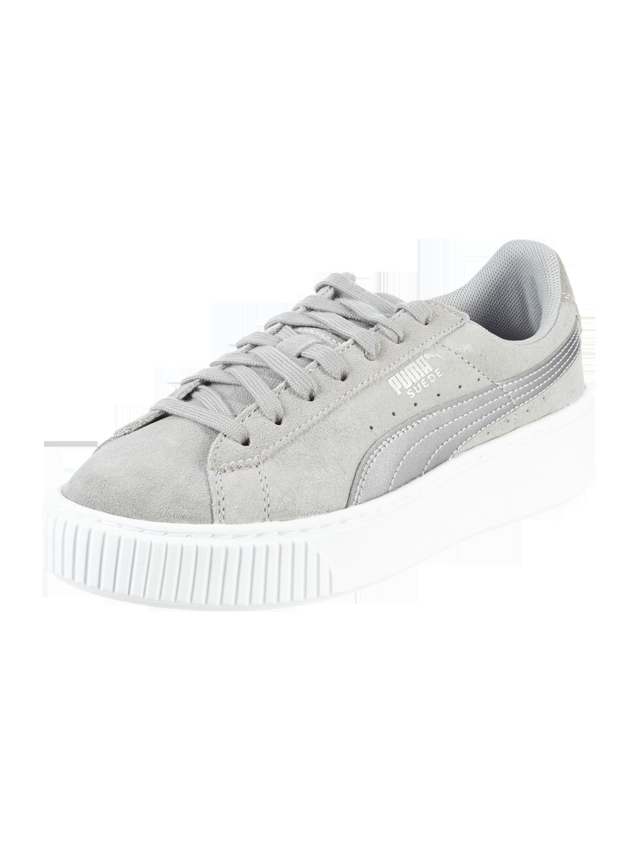 92d4f423f4cb6e PUMA Sneaker  Platform Safari  aus Leder in Grau   Schwarz online kaufen  (9675955) ▷ P C Online Shop Österreich
