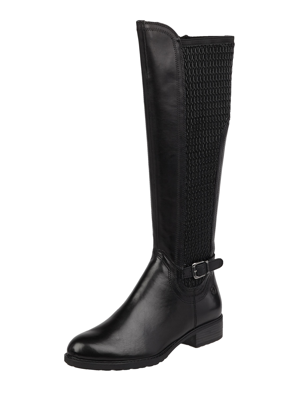 Tamaris – Stiefel aus Leder mit XS Schaft – Schwarz