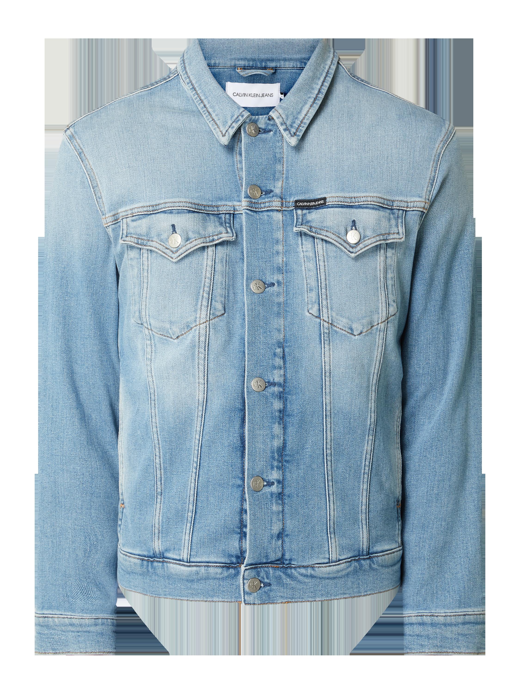 Calvin Klein Jeans – Jeansjacke mit Pattentaschen – Jeans