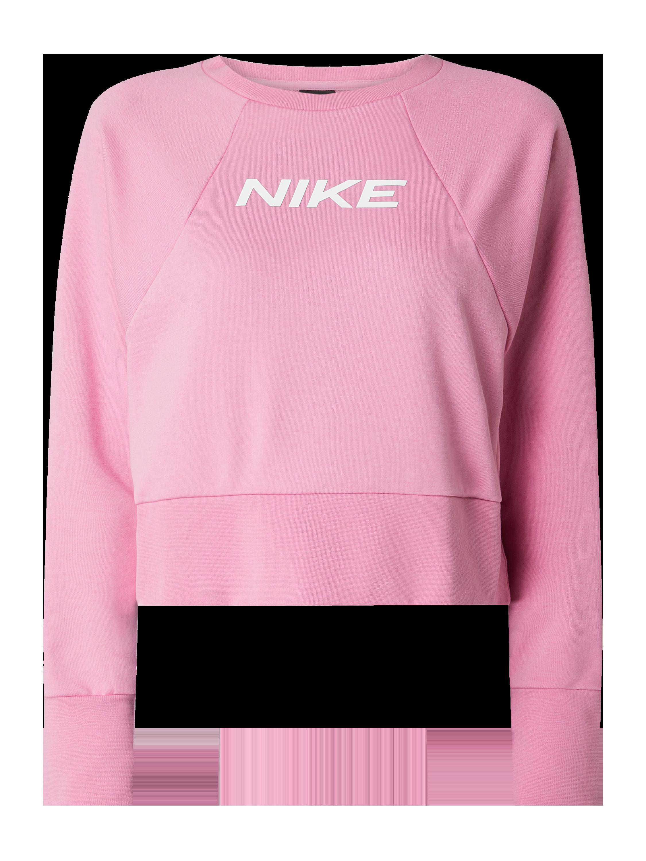 NIKE TRAINING – Bluza krótka o luźnym kroju z raglanowymi rękawami — Dri FIT – Różowy