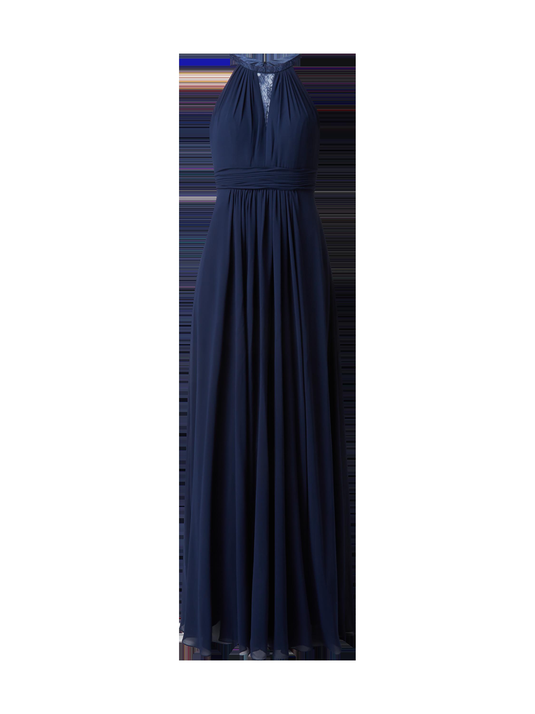 MASCARA Abendkleid mit Spitzenbesatz in Blau / Türkis online kaufen ...