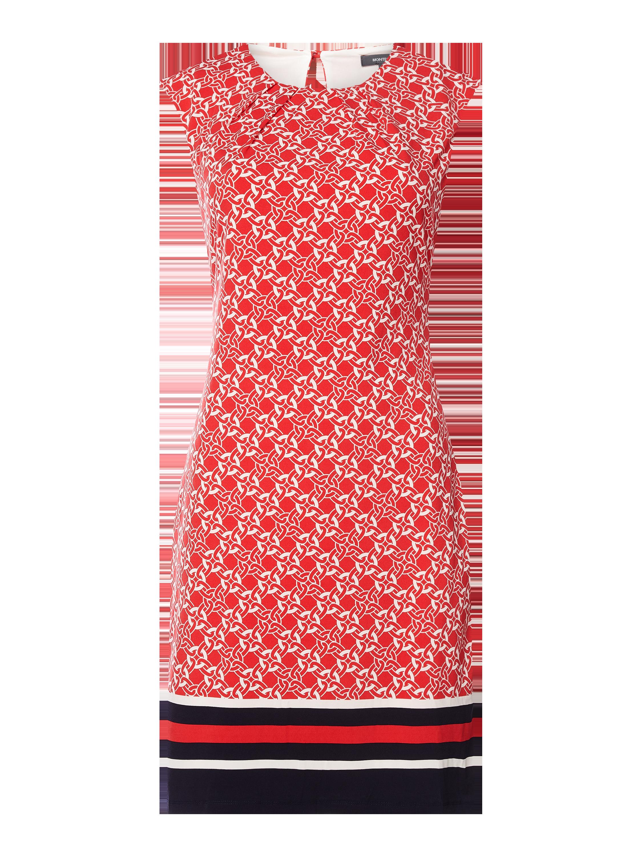 montego – kleid mit kappärmeln – rot