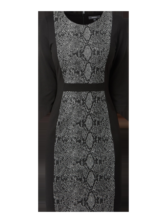 montego – kleid aus jersey in snake-optik – schwarz