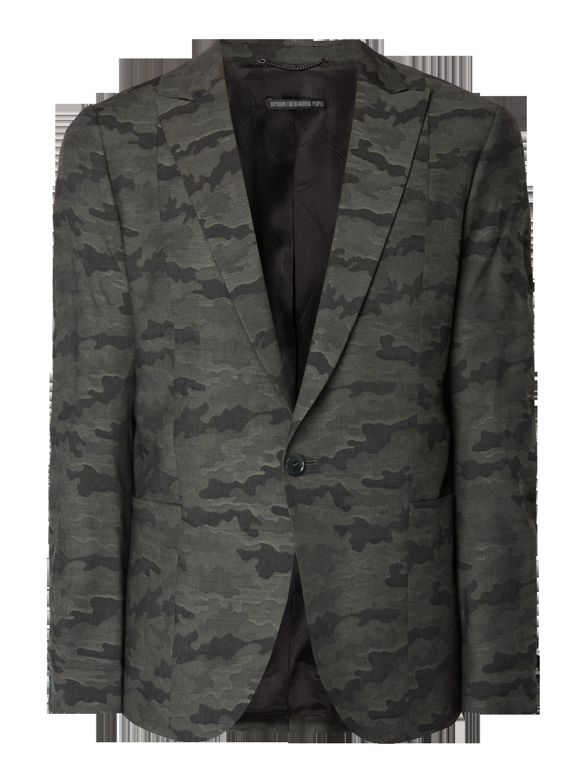 1-Knopf-Sakko mit Camouflage-Muster Grün - 1 ...
