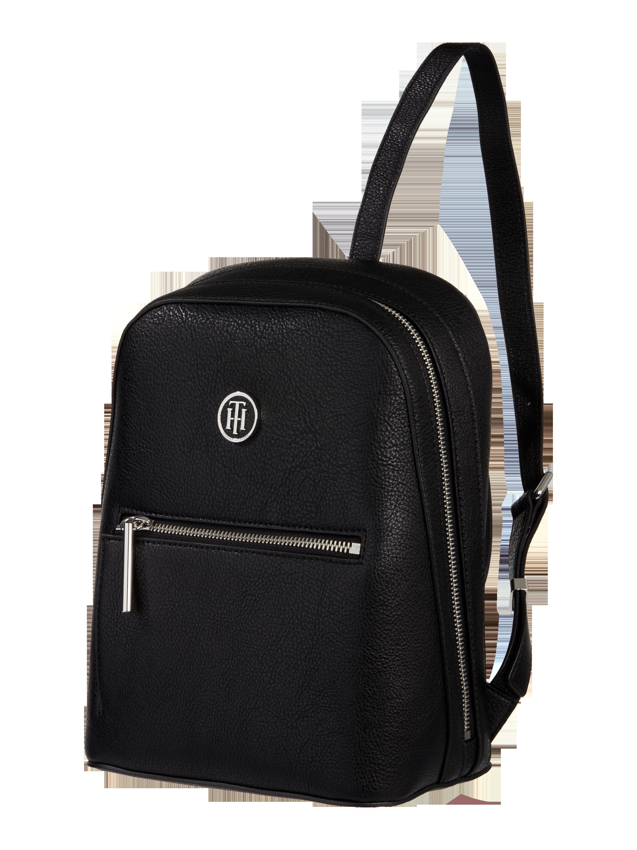 324e21d642f87 TOMMY-HILFIGER Plecak z przegródkami zapinanymi na zamek błyskawiczny w  kolorze Szary   czarny zakupy online (9732255) w P C ▷ wysyłka i zwrot 0zł